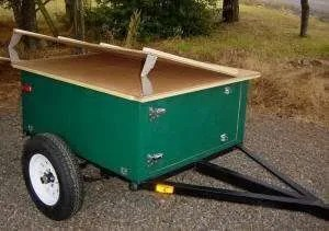 Compact Camping Trailer Explorer Box with hinge lid