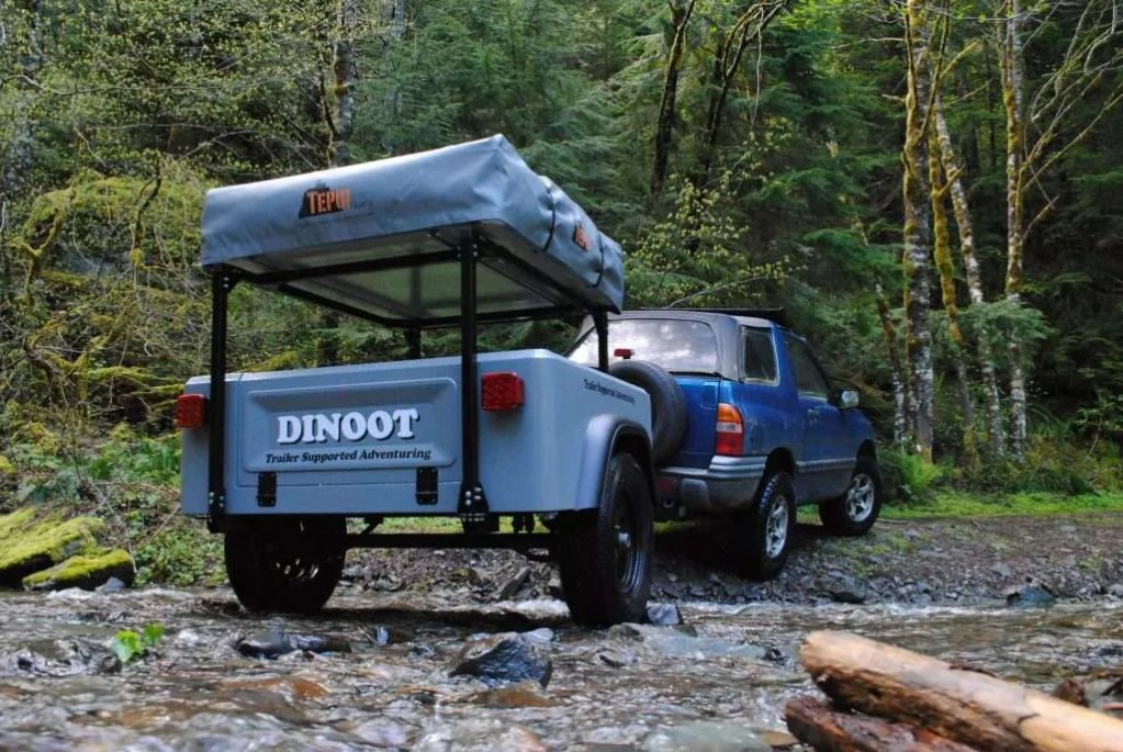 Compact Camping Towing Safety Dinoot Jeep Trailer by Compact Camping Trailers