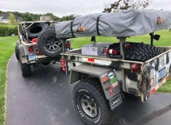 No Weld Trailer Racks on M416 101 Customer Build