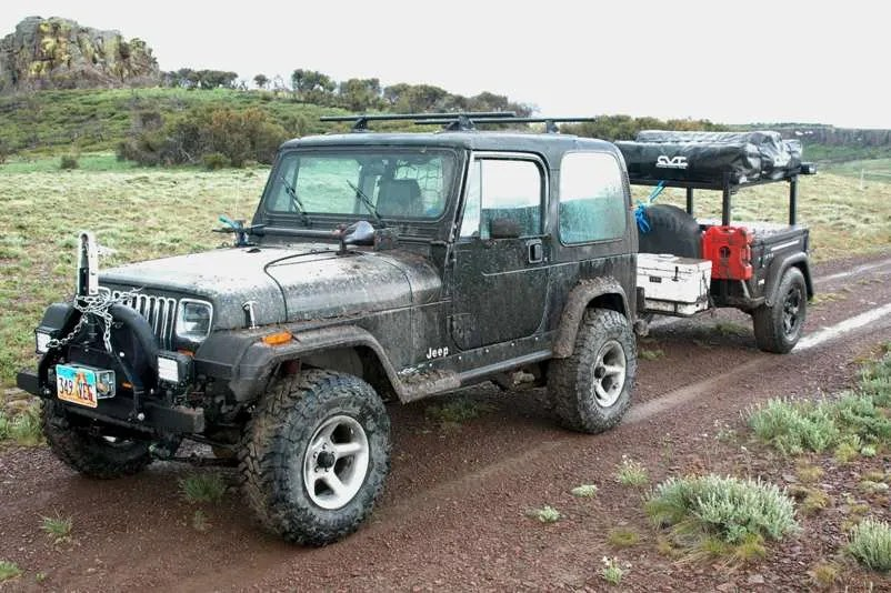 Jeep Trailer Customer Build Compact Camping Trailers