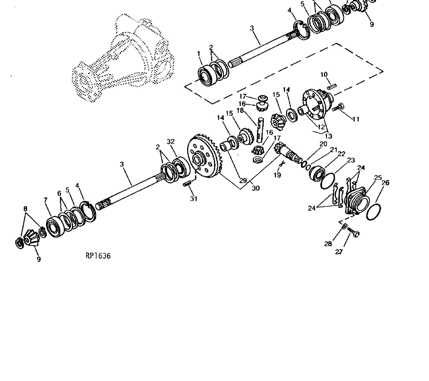 Front Axle Spider Gear 4wd