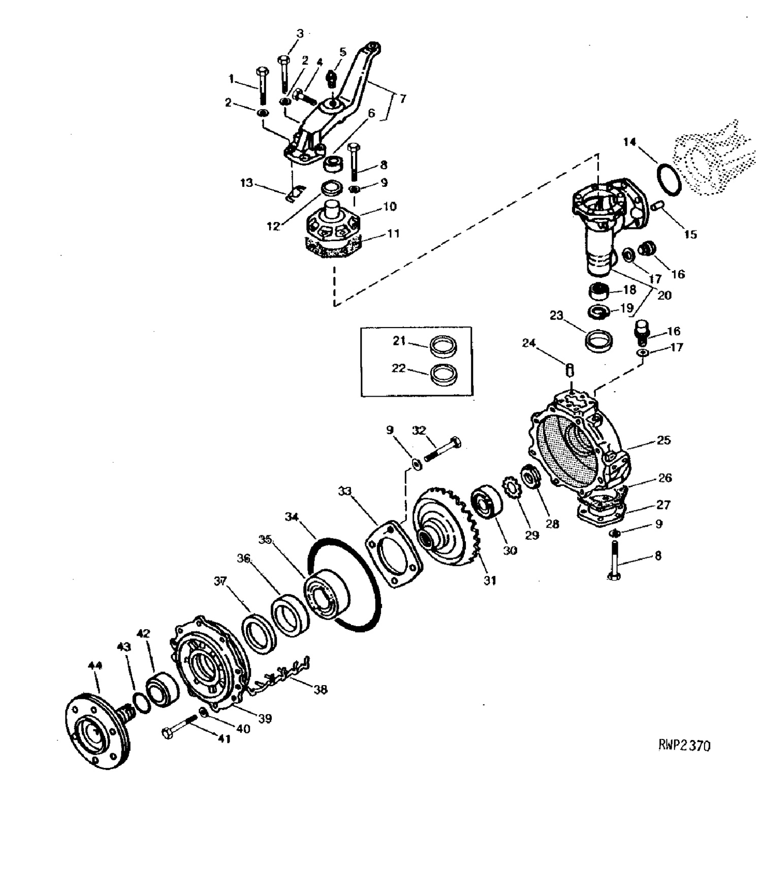 Front Axle Parts For John Deere Compact Tractors