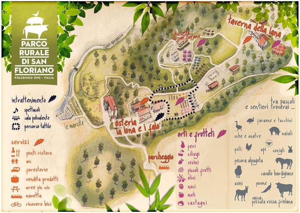 mappa del parco di san floriano