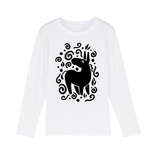 "T-shirt bambini manica lunga ""Unicorno"" Bianca"