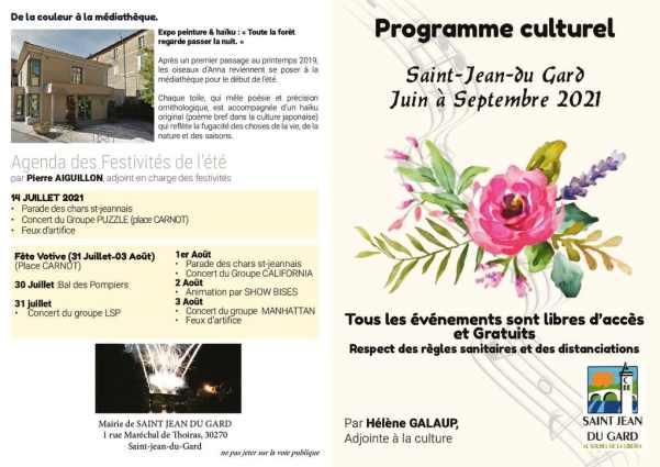 thumbnail of Programme culturel St jean du Gard été 2021