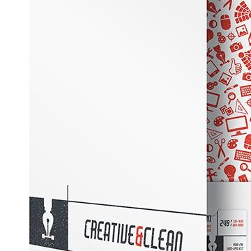 HD Decor Images » Creative   Clean Folder and Business Card   Free AI Template Creative   Clean AI Folder Template  Front Open View