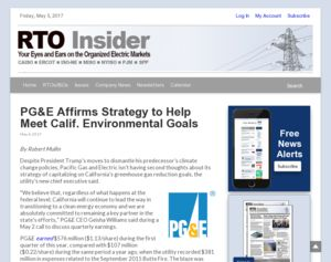 PG&E Affirms Strategy to Help Meet Calif. Environmental ...