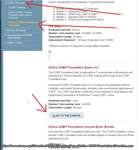 COBIT 4.1 – passos para comprar o exame