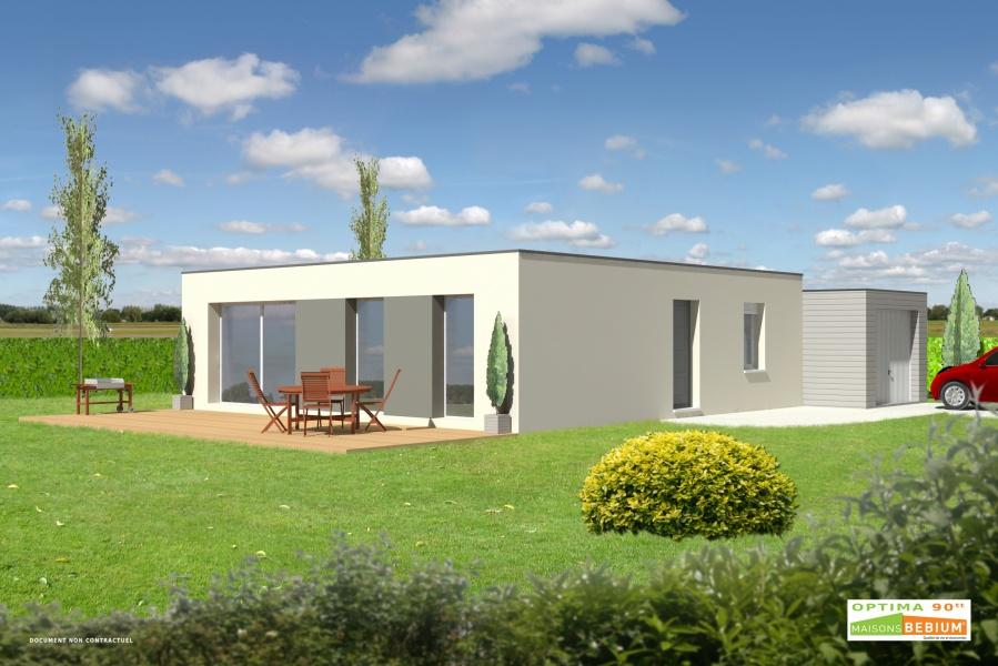 Constructeur Kubiq Prsente Sa Maison Optima 90 Toit Terrasse