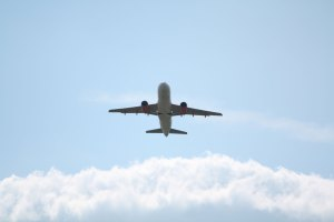 EasyJet plane leaving Stansted Airport