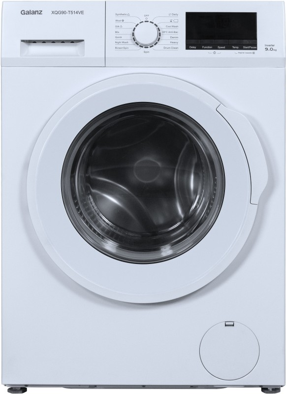 Galanz 9 kg (Quick Wash & Inverter) Fully Automatic Front Load with In-built Heater (XQG90-T514VE)