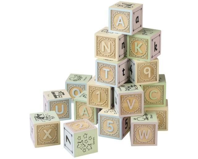 Wooden Alphabet Block Letters