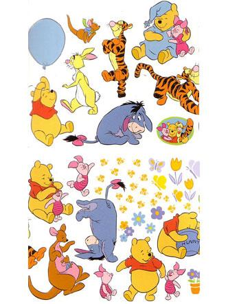 Winnie the Pooh Wall Stickers Stikarounds 46 pieces
