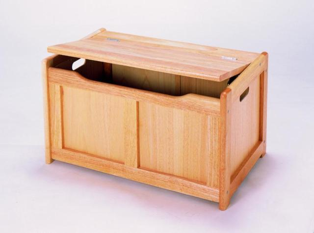 toy storage, this robust toy box is made from solid varnished wood