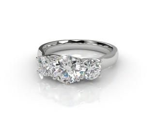 Trilogy 18ct. White Gold Round Brilliant-Cut Diamond-01-0533-2310