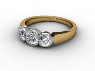 Trilogy 18ct. Yellow Gold Round Brilliant-Cut Diamond-01-2833-1010