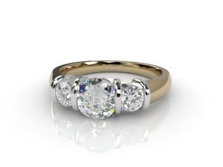 Trilogy 18ct. Yellow Gold Round Brilliant-Cut Diamond-01-2833-1015