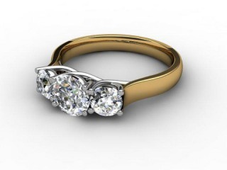 Trilogy 18ct. Yellow Gold Round Brilliant-Cut Diamond-01-2833-2310