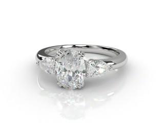 Trilogy Platinum Oval & Pearshape Diamond-03-0133-2304