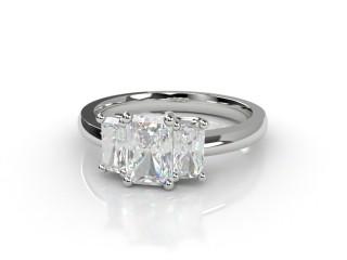 Trilogy 18ct. White Gold Radiant-Cut Diamond-10-0533-2306