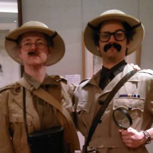 Helen Taylor and Nathan Grassi as roving anthropologists Caruthers and Maltravers.