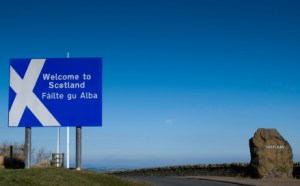 Scotland-welcome sign