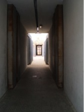 Lateral corridor of the female living unit at Ponte Galeria (Photo: F. Esposito)