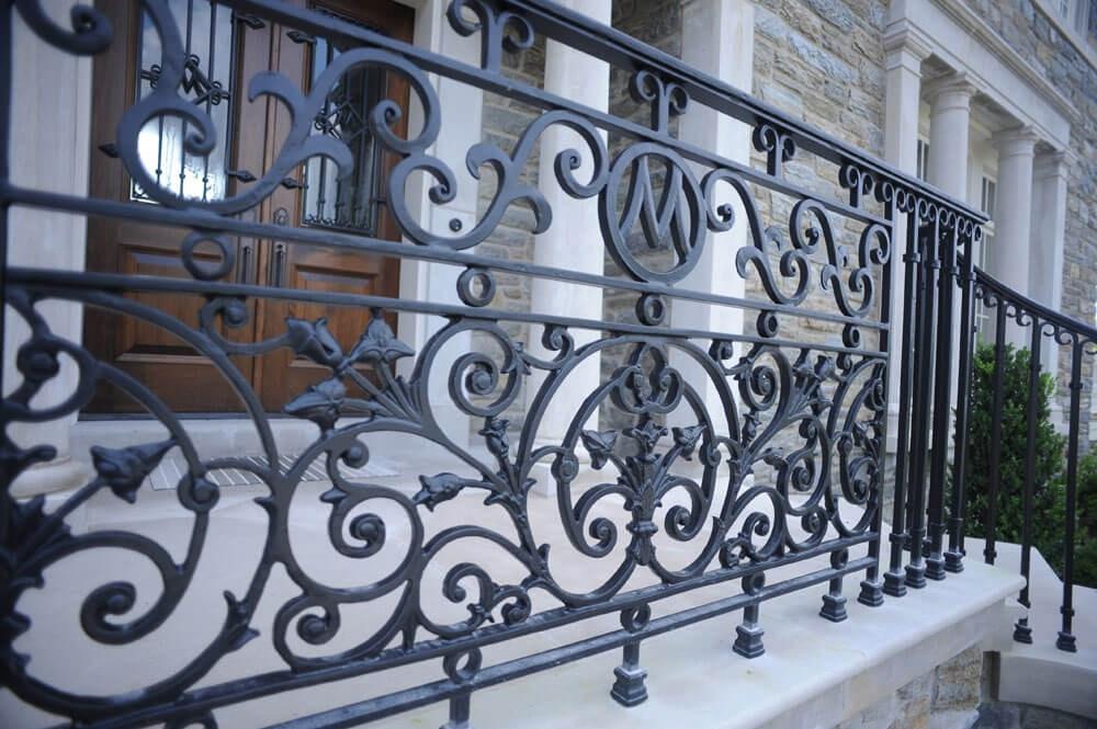 Exterior Railings Compass Iron Works | Outdoor Wrought Iron Stair Railing Near Me | Aluminum Railings | Railing Steel | Front Porch Railings | Railing Designs | Custom