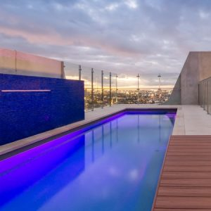 concrete or fibreglass pool