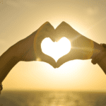 Heart sun hands love