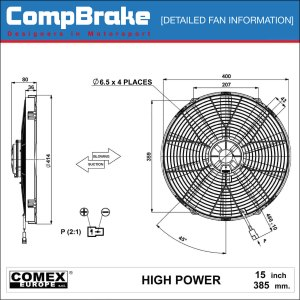 Comex 12v High Power Cooling Fan 152