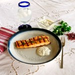 Grilled Salmon with Pink Peppercorn Tartar Sauce