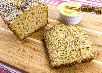 Crunchy Multigrain Loaf with Honey Butter