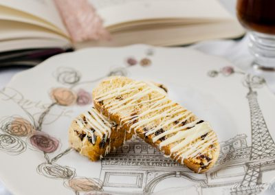 Pink Peppercorn Cherry Biscotti