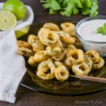 Jalapeño Rings with Cumin Dip are jalapeño slices dipped in a light batter, fried golden and served with Cumin Dip.