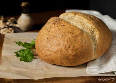Wild Mushroom Herb Bread