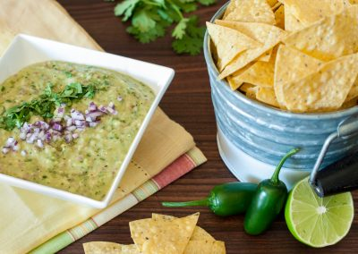 Grilled Tomatillo Avocado Dip