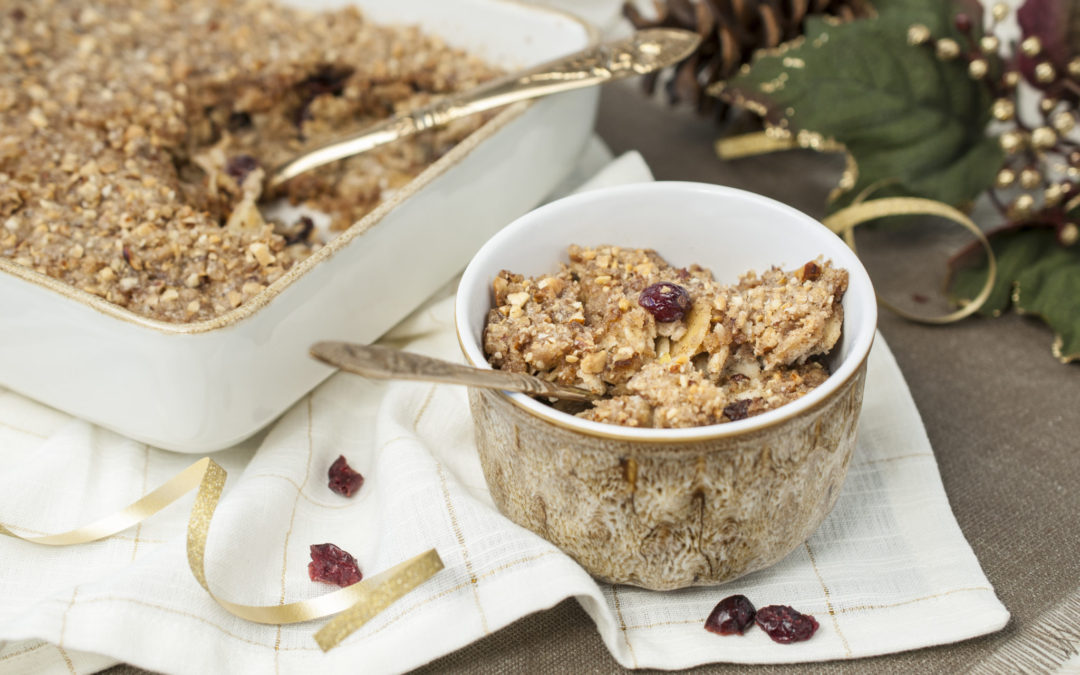 Baked Apple Cranberry Oatmeal