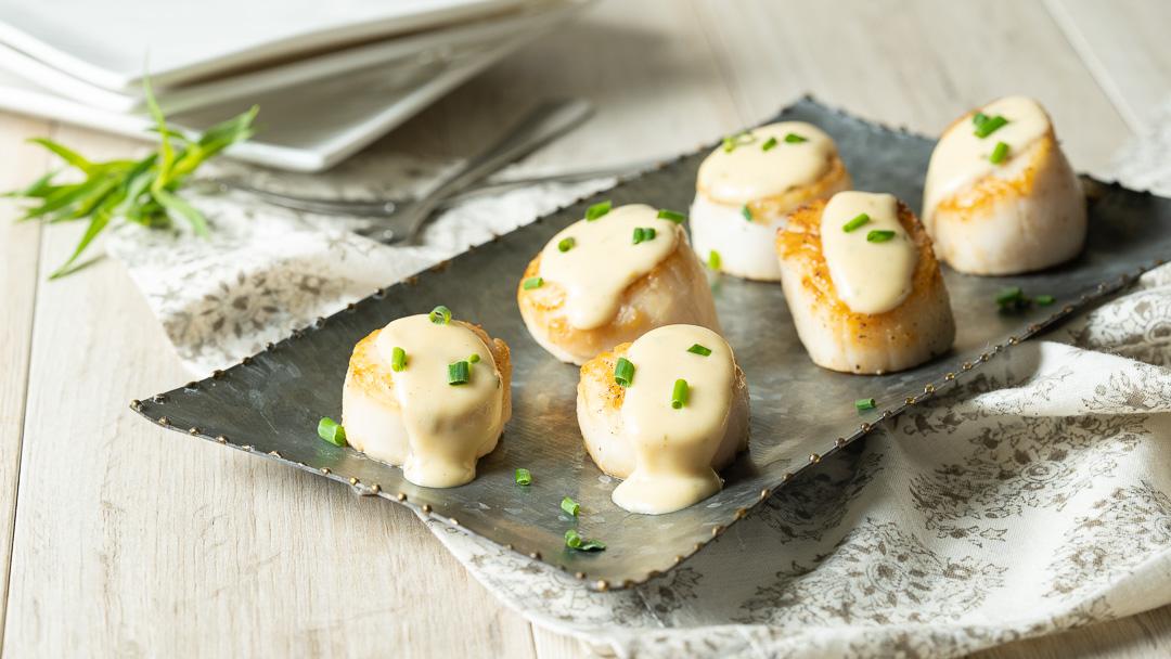 Scallops with Tarragon Cream Sauce