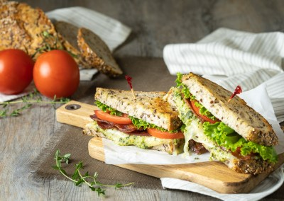 Cheesy Pesto BLT