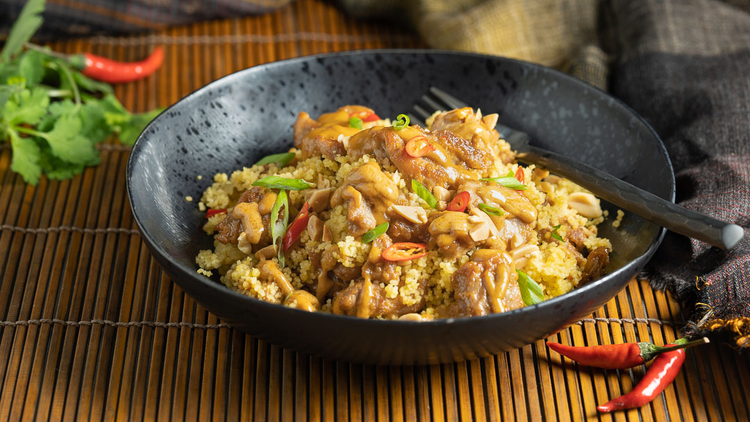 Spicy Peanut Chicken and Couscous
