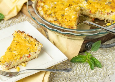 Corn and Bacon Quiche