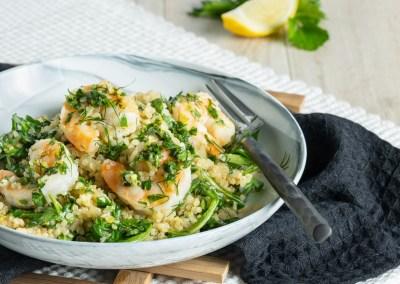 Herbed Quinoa Shrimp Bowls