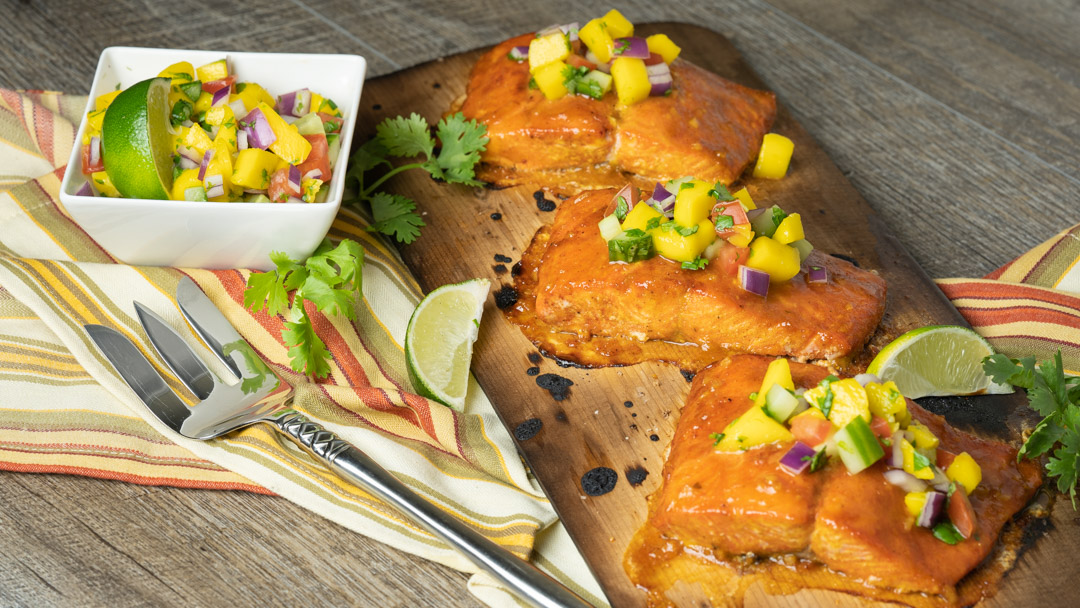 Mango Chipotle Glazed Salmon