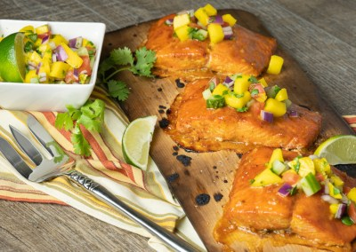 Mango Chipotle Glazed Salmon