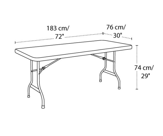 22900 Lifetime 6 Plastic Folding Outdoor Folding Table