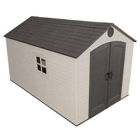 Lifetime Storage Sheds 60035 8x125 Plastic Outdoor Shed