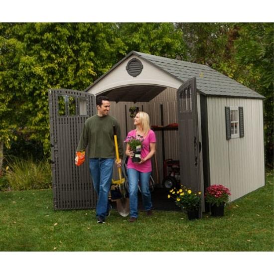 Lifetime Sheds 60086 8 X 125 Foot Plastic Storage Shed