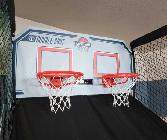 Lifetime Double Shot Arcade Basketball Game 90056 Electronic System