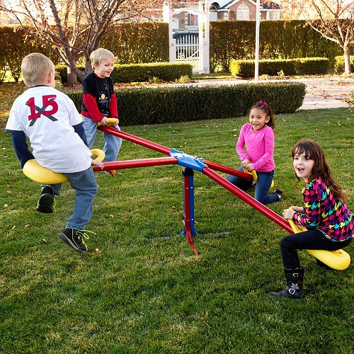 Lifetime 90511 Four Person Teeter Totter In Primary Colors